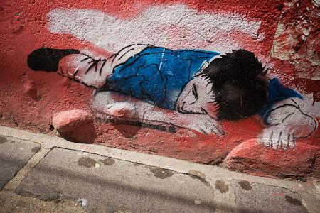 Streetside graffiti.